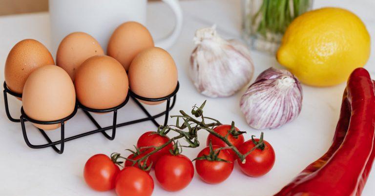 eggs vegetables